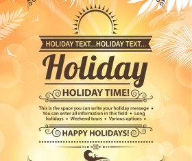 Summer holiday beach poster vector design 06