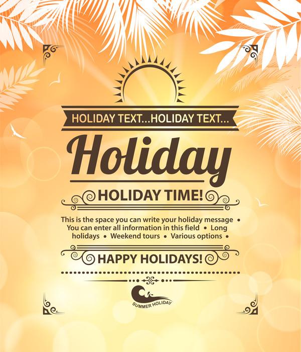 Summer holiday beach poster vector design 06