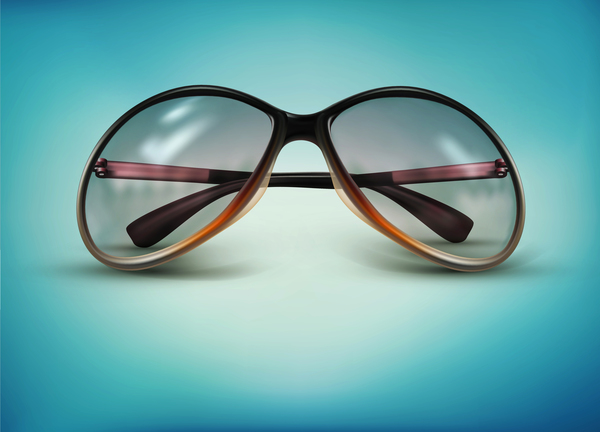 Sunglasses design vectors set 02