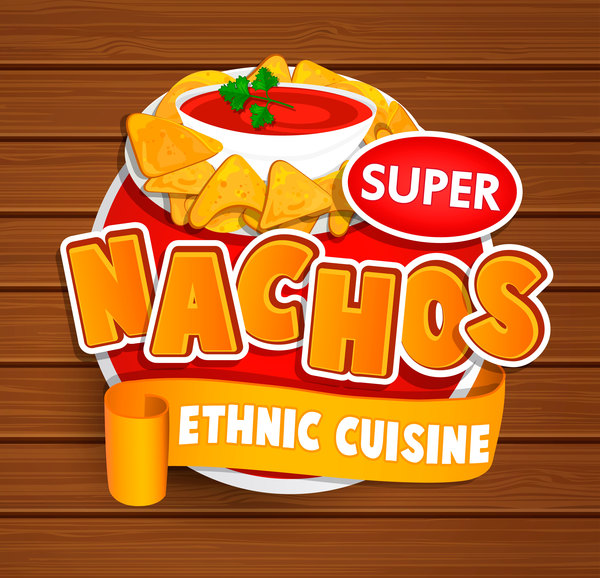 Super nachos sticker vector