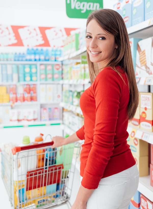 Supermarket purchase lady Stock Photo 02 - Food stock photo free download - 웹