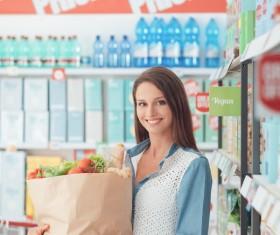 Supermarket purchase lady Stock Photo 04
