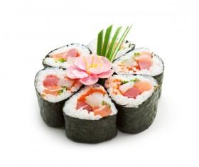 Sushi patchwork flower Stock Photo