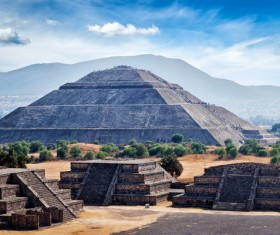 Teotihuacan ruins Stock Photo