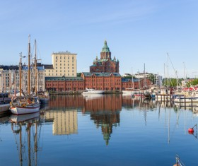 The beautiful city of Helsinki Stock Photo 01