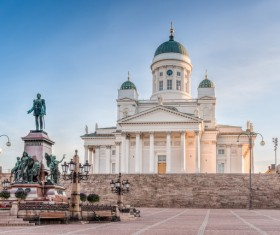 The beautiful city of Helsinki Stock Photo 02