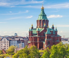 The beautiful city of Helsinki Stock Photo 08