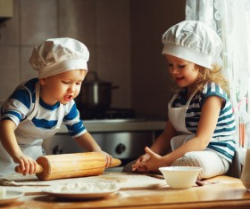The children who made the food Stock Photo