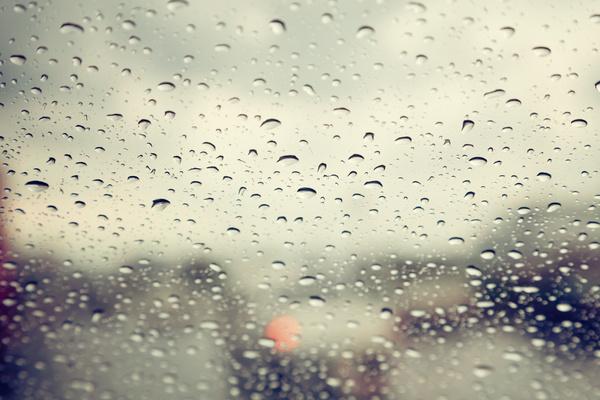 The raindrops on the glass windows Stock Photo