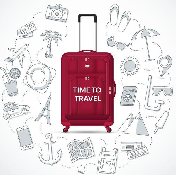 Time to travel vector backgrtound