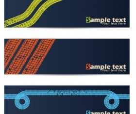 Tire printed banners vector