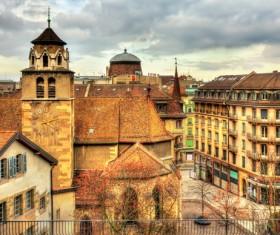 Tourist city of Geneva Stock Photo 03