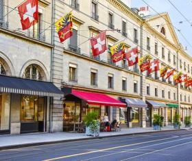 Tourist city of Geneva Stock Photo 04