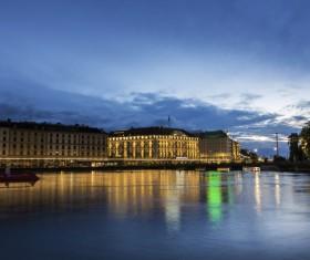 Tourist city of Geneva Stock Photo 06