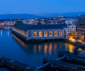 Tourist city of Geneva Stock Photo 07