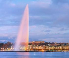 Tourist city of Geneva Stock Photo 10
