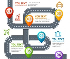 Traffic road infographic template vector 03