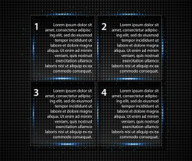 Transparent square glass banners vector 01