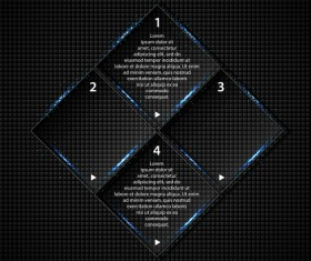 Transparent square glass banners vector 02