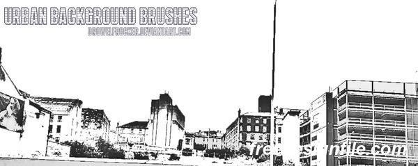 Urban Background Photoshop Brushes