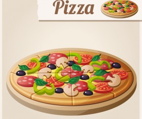 Vagetable pizza vector