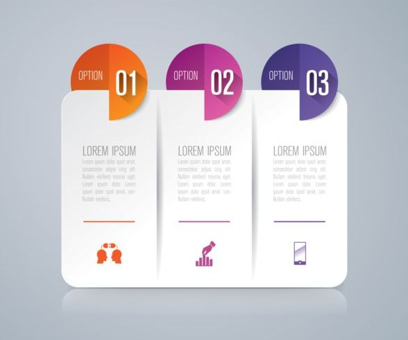 Vector banner with option infographic template 01