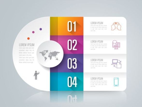 Vector banner with option infographic template 02