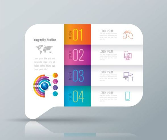 Vector banner with option infographic template 03