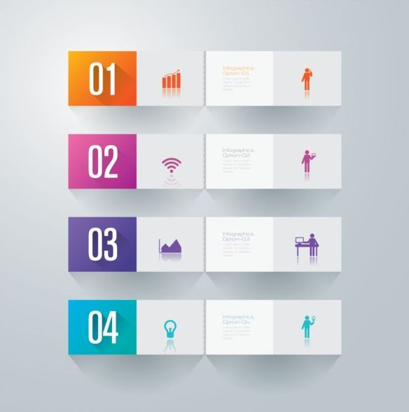 Vector banner with option infographic template 04