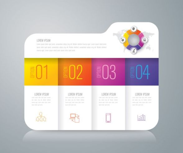 Vector banner with option infographic template 05