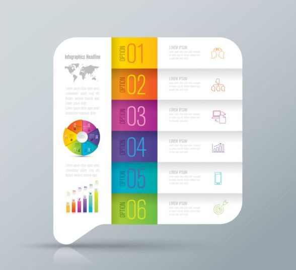 Vector banner with option infographic template 06