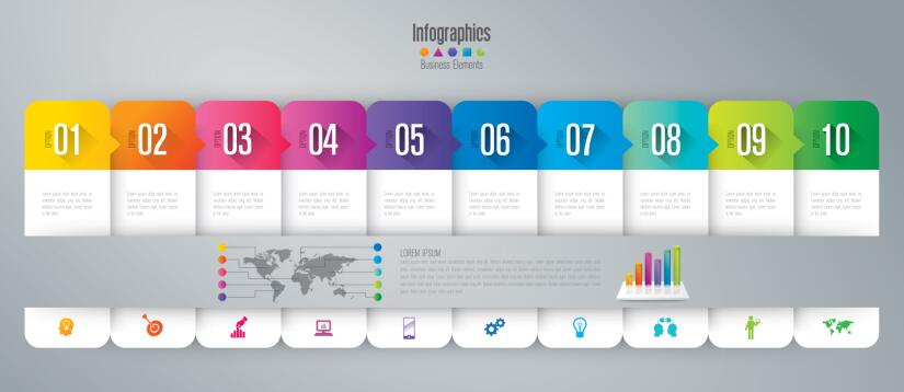 Vector banner with option infographic template 07