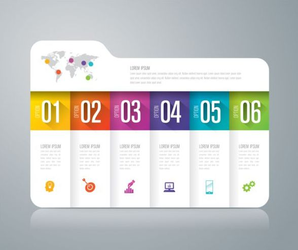 Vector banner with option infographic template 10