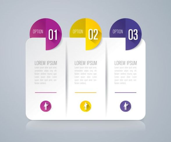 Vector banner with option infographic template 11