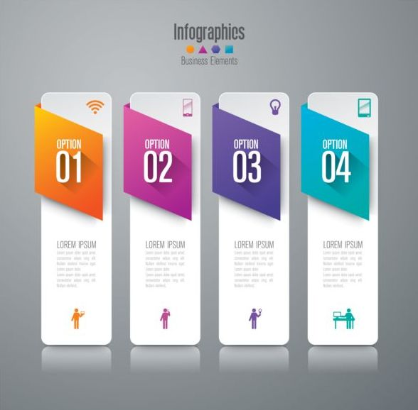 Vector banner with option infographic template 13