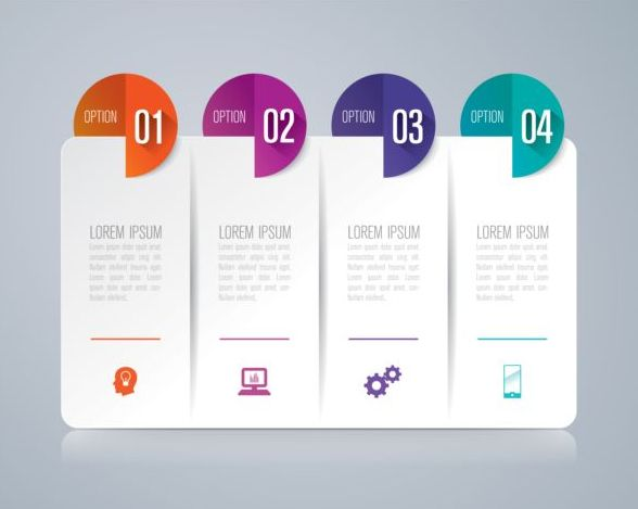 Vector banner with option infographic template 14