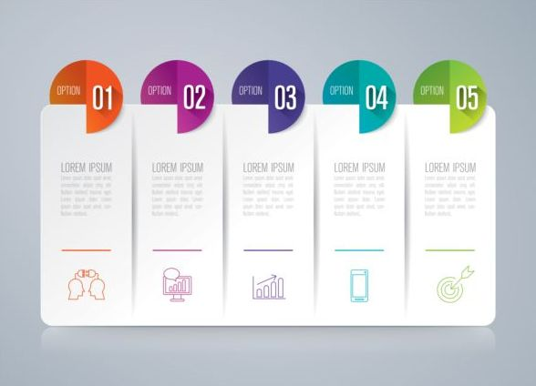 Vector banner with option infographic template 15
