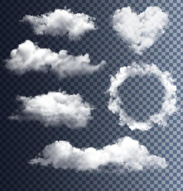 Vector clouds illustration set 01
