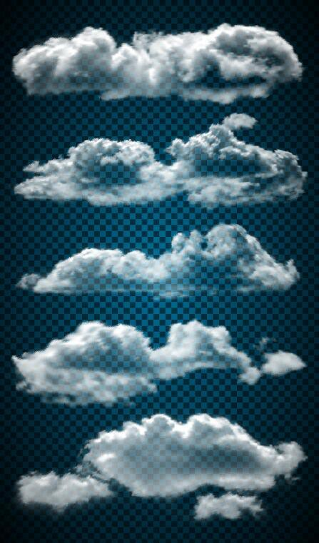 Vector clouds illustration set 02