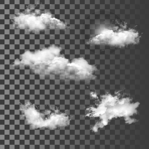 Vector clouds illustration set 04