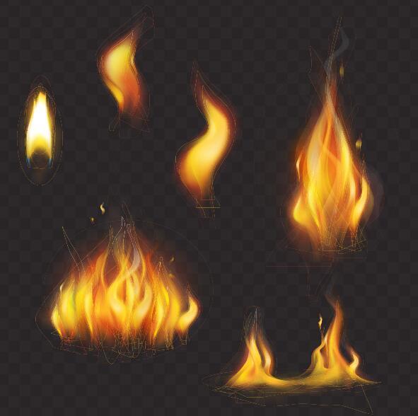 Vector fire set 02