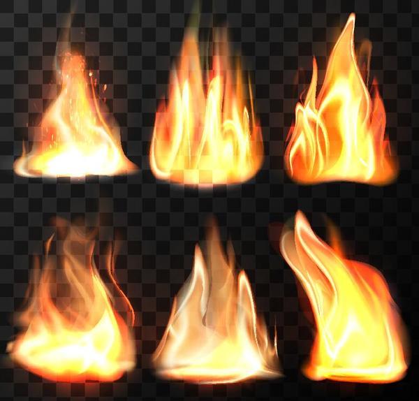 Vector fire set 04