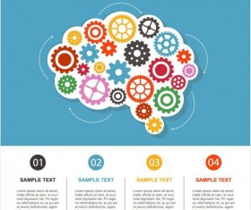Vector infographic template with gear 01