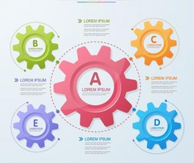 Vector infographic template with gear 02