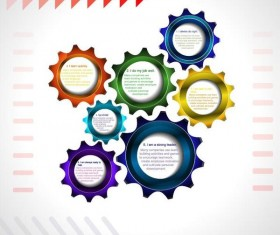 Vector infographic template with gear 04