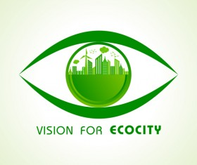 Vision for ecocity logo vector