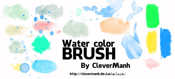 Water color Photoshop Brushes