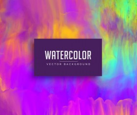 Watercolor flowing vector background 01