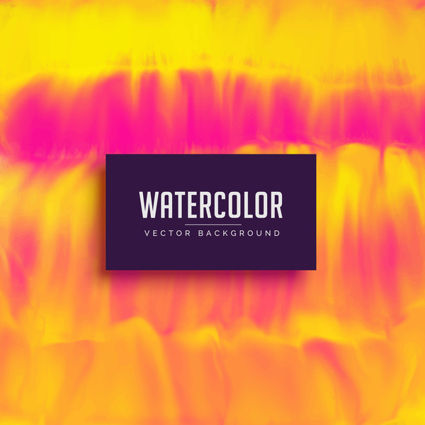 Watercolor flowing vector background 03
