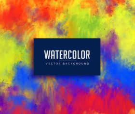 Watercolor flowing vector background 06
